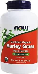 Now Foods, Certified Organic Barley Grass Pure Powder, 6 oz (170 g)