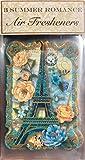 Punch Studio 3 Summer Romance Air Fresheners, Blue Eiffel Tower 10335