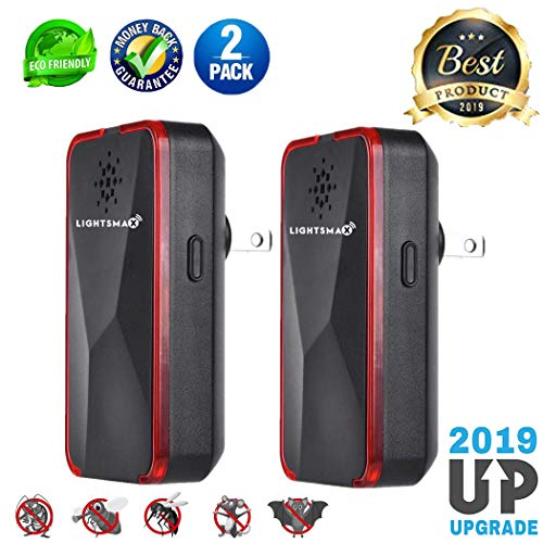 2019 NEW DUAL FREQUENCY Pest Control Ultrasonic Repeller for Mosquitoes, Mice, Ants, Roaches, Spiders, Bugs, Flies, Insects, Rodents, Pest Control Ultrasonic Repeller Safe for Human & Pets