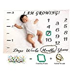 Baby-Monthly-Milestone-Blanket-Premium-Soft-Fleece-Will-Not-Wrinkle-Or-Fade-Like-Muslin-Blankets-Large-40-x-60-Size-Thick-Soft-Plush-Perfect-for-Baby-Boy-Or-Girl-Great-for-Photos