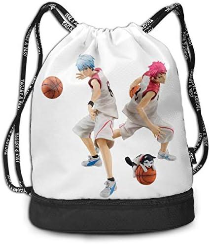 メンズ レディース 兼用黒子のバスケ (8) ナップサック アウトドア ジムサック 防水仕様 バッグ 巾着袋 スポーツ 収納バッグ 軽量 バッグ 登山 自転車 通学・通勤・運動 ・旅行に最適 アウトドア 収納バッグ