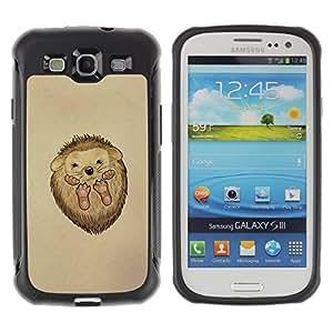 "Pulsar iFace Series Tpu silicona Carcasa Funda Case para Samsung Galaxy S3 III I9300 , Erizo espinas animal lindo del dibujo del arte"""