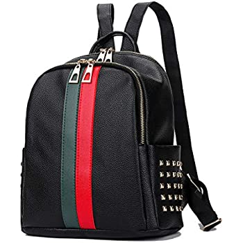 39f483acd4a Leparvi Fashion PU Luxury Designer Small Women Backpack Bag Ladies Teenager  Tote Handbag Purse (Red