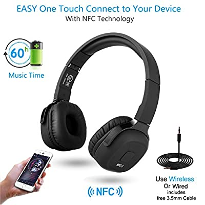 Bluetooth Headphones,MindKoo Wireless NFC Stereo Sport On-Ear Headphone Headset with Pedometer Earphone, Hands-Free Calling with Mic for iPhone 7/6S,Samsung PC All Bluetooth-Enabled Devices