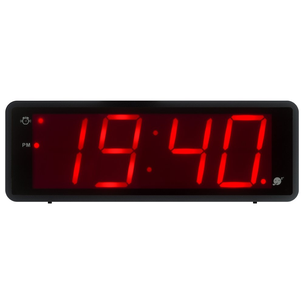 Kwanwa Digital Alarm Clock Large Display With 1.8'' LED Numbers, Battery Operated Only, 12/24H Time Display, Snooze And Loud Alarm