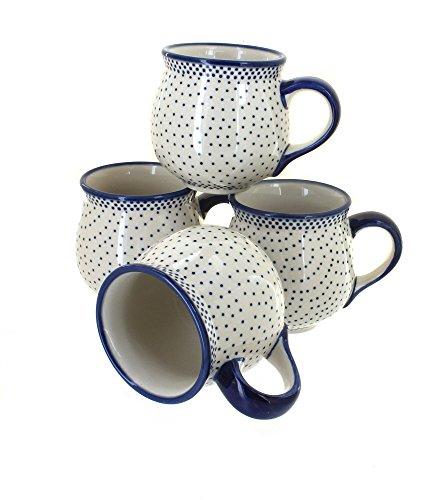 polish-pottery-small-dots-4-piece-bubble-mug-set