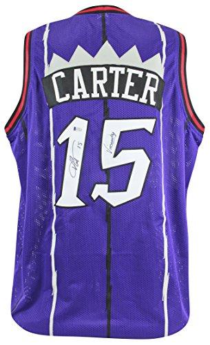 Signed Press (Raptors Vince Carter Vinsanity Authentic Signed Purple Jersey BAS Witnessed)