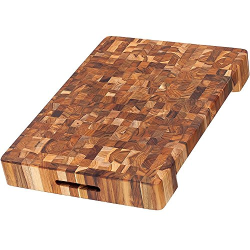 Teakhaus - Rectangle Cutting Board With Hand Grip and Juice Canal - Brown Wooden, 24 x 18 x 1.5 Inches (Best Wood For Chopping Board Uk)
