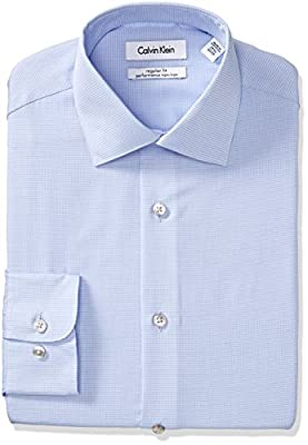 Calvin Klein Men's Regular Fit Non Iron Check Shirt