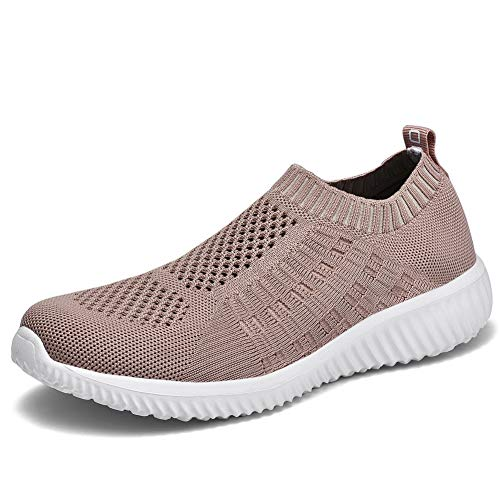 TIOSEBON Women's Athletic Walking Shoes Casual Mesh-Comfortable Work Sneakers 13 US Apricot