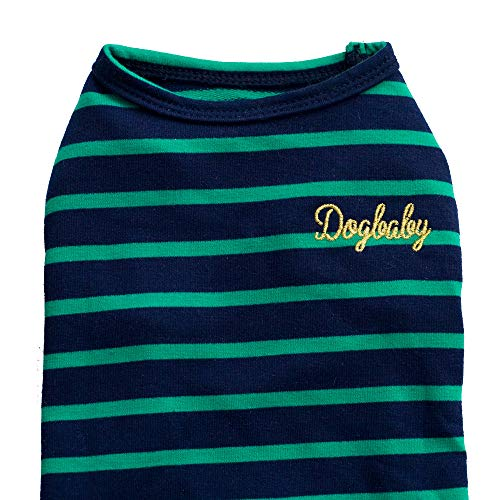XBKPLO Pet Shirts Cute Print Vest Summer Tricolor Stripe Apparel for Small Dog Cat Puppy Costume T-Shirt Green