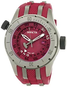 Invicta Men's 0228 Force Collection Red Dial Grey Titanium and Red Rubber Watch