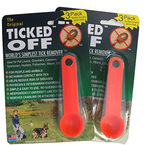 Ginesis The Original Ticked Off Tick Remover 2 Packs of 3 Each with Key Hole Family Colors May Vary. 6 Total removers Included ()