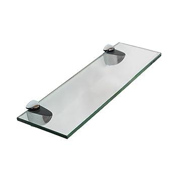 Glasablage 30x80CM + Halterung Badezimmerablage Spiegelablage Ablage Bad  Konsole