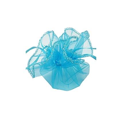NBEADS - 200 Bolsas de Organza Azul Aqua para joyería, Dulces, Navidad, Boda