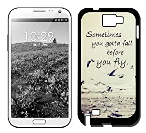 Sometimes You Gotta Fall Quote Ocean Galaxy Note 3 Case Fits Samsung ...
