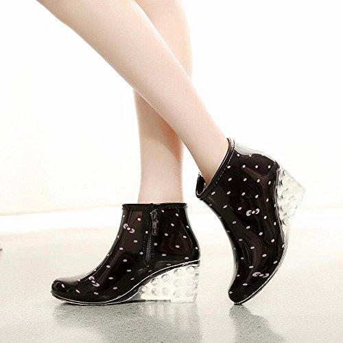 pendenza pioggia pioggia alto da Scarpe pioggia donna da tacco 2 stivali stivali da piatta Stivali con da 7qC5zI