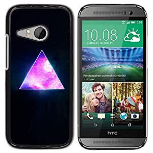 Qstar Arte & diseño plástico duro Fundas Cover Cubre Hard Case Cover para HTC ONE MINI 2 / M8 MINI ( Pyramid Space Cosmos Galaxy Universe Triangle)