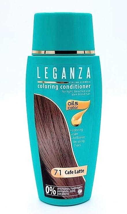 Pack Ahorro de 2 x Tintes Bálsamo para cabello sin ammoniaque color café con leche 71, 7 aceites naturales
