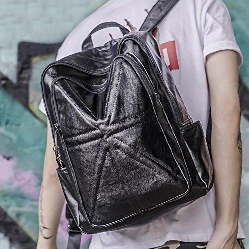 MUMA Daypacks Männer Rucksack Rucksack Studententasche Computer Tasche ( Farbe : Schwarz ) Schwarz