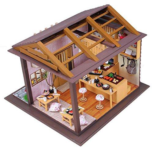 DIY Led `日本寿司チェリーバー「ドールハウスミニチュアハウスキットwithダストカバーDIY部屋ギフトおもちゃの商品画像