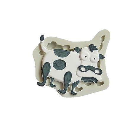 Molde Antiadherente Zmigrapdn para Tartas, diseño de Animales de Dibujos Animados para Manualidades, Silicona
