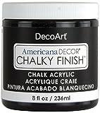 DecoArt Americana Chalky Finish Paint 8oz, Carbon
