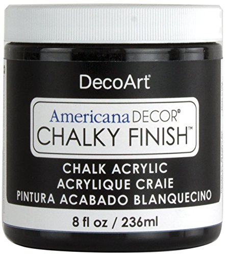 DecoArt Americana Chalky Finish Paint 8oz, Carbon