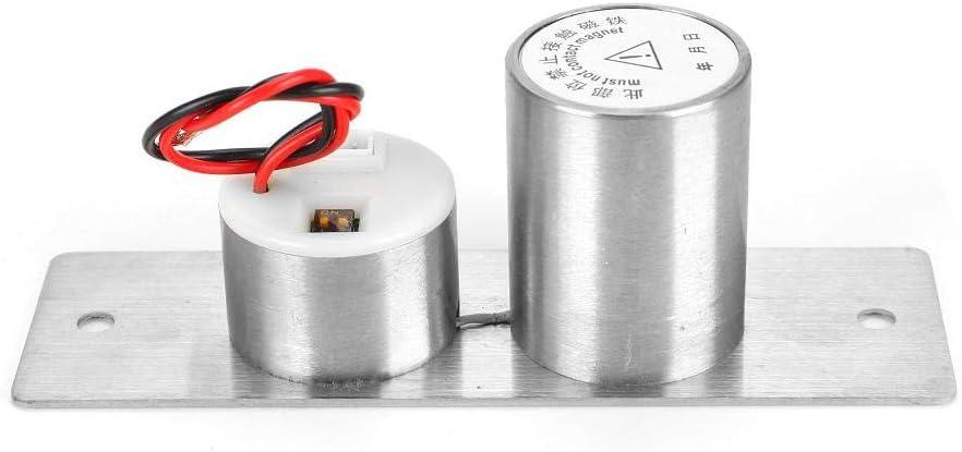 Hopcd DC12V Cerradura de embutir eléctrica integrada Cerradura de Perno eléctrico de 5 Hilos de Acero Inoxidable Cerradura de inducción magnética para Sistema de Control de Acceso de Seguridad