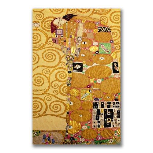 Fulfillment by Gustav Klimt, 18×32-Inch Canvas Wall Art