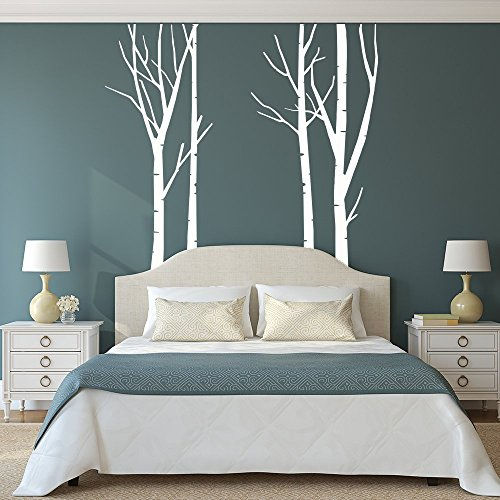 Trunk Wall - Vinyl Wall Decals Large Birch Tree Trunks Removable Wall Decor for Baby Nursery Bedroom