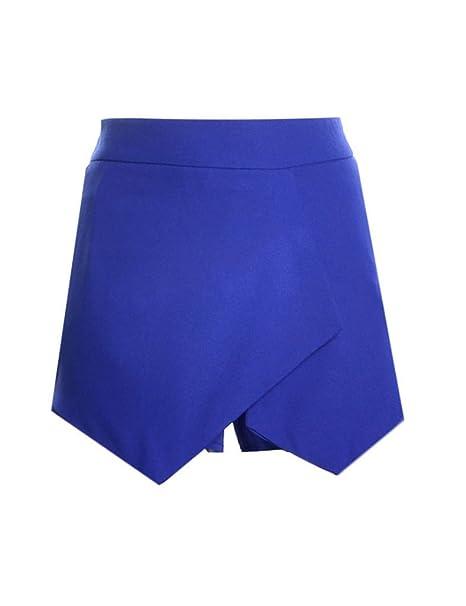 a882e171f6c8 Bestgift Damen Kurz Hose Unregelmäßigen modische Shorts Hosen-Rock   Amazon.de  Bekleidung