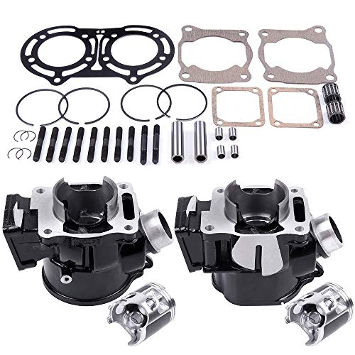 ECCPP New Cylinder Piston Ring Gasket for 1987-2006 Yamaha Banshee 350 YFZ 350 Compatible fit for Cylinder Piston Gasket Top End Kit ()