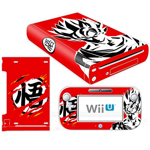 Vinyl Skin Wii - Vanknight Wii U Skins Vinyl Skin Decals Stickers for Nintendo Wii U Console and Remote Controllers Anime Dragon Ball