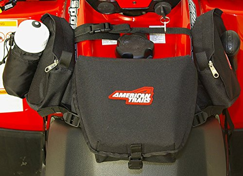 American Trails - ATV Saddle Bag Black - Tank Bag Front Accessories Storage Pack ()