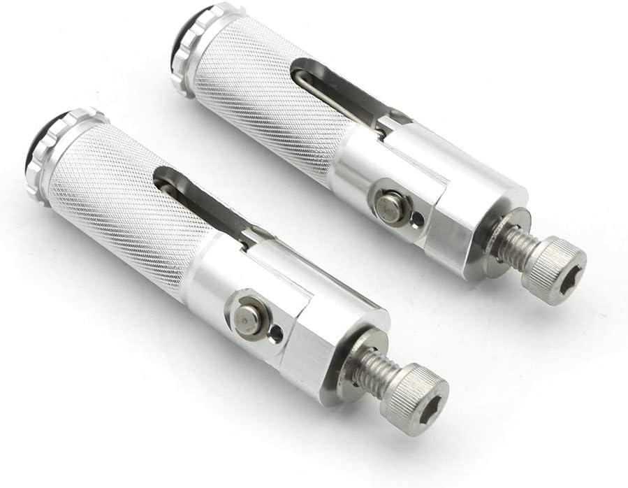8mm Motorcycle Folding Rearsets Footrest Footpegs Foot pegs Pedal Universal for Kawasaki Z125 Pro 16-18, Ninja H2 2015-2017, Ninja ZX6R ZX636 1999-2017, Ninja 650R ER6F ER-6N 2012-2014