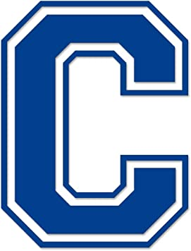 Applicable Pun Letter C Varsity- Vinyl Decal for Outdoor Use on Cars Windows and More ATV White 5 inches Tall Boats