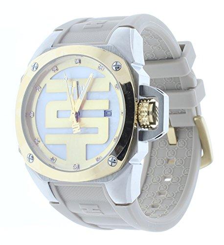 Technosport TS-102-10 Women's Beige/Gold Swiss Watch Swarovski Crystal Markers