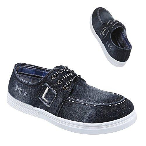 Ital-Design - Zapatos Hombre Negro - Schwarz Grau