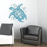 BIG Sea Turtle Vinyl Wall Decal Sticker Art -Home Décor-SBlue/Original