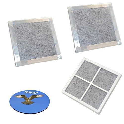 Price comparison product image HQRP 3-Pack Air Filter for LG LFX28968SB LFX28968SW LFXC24726D LFXC24796D LFXS29626B LFXS29766S LFXS30786S LFXS30796D LFXS32726S LFXS32736D Refrigerator + HQRP Coaster