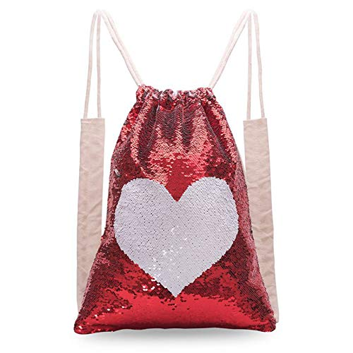 (DerBlue Sequin Drawstring Bags,Reversible Double-Sided Sequin Bag for Children,Great Gift for Boys and Girls.)