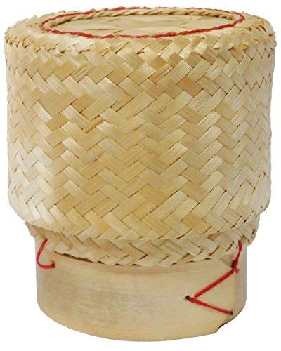 amatahouse Thai tejida a mano Hecho a mano pegajosa arroz Servir Basket, bambú, tamaño 11,4x 8,9x 12,7cm + 1Color...