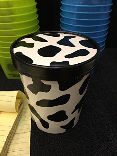 25ct Cow Print Pint Frozen Dessert Containers 16 oz