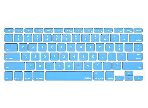 Kuzy - SKY BLUE Keyboard Cover Silicone Skin for MacBook Pro 13
