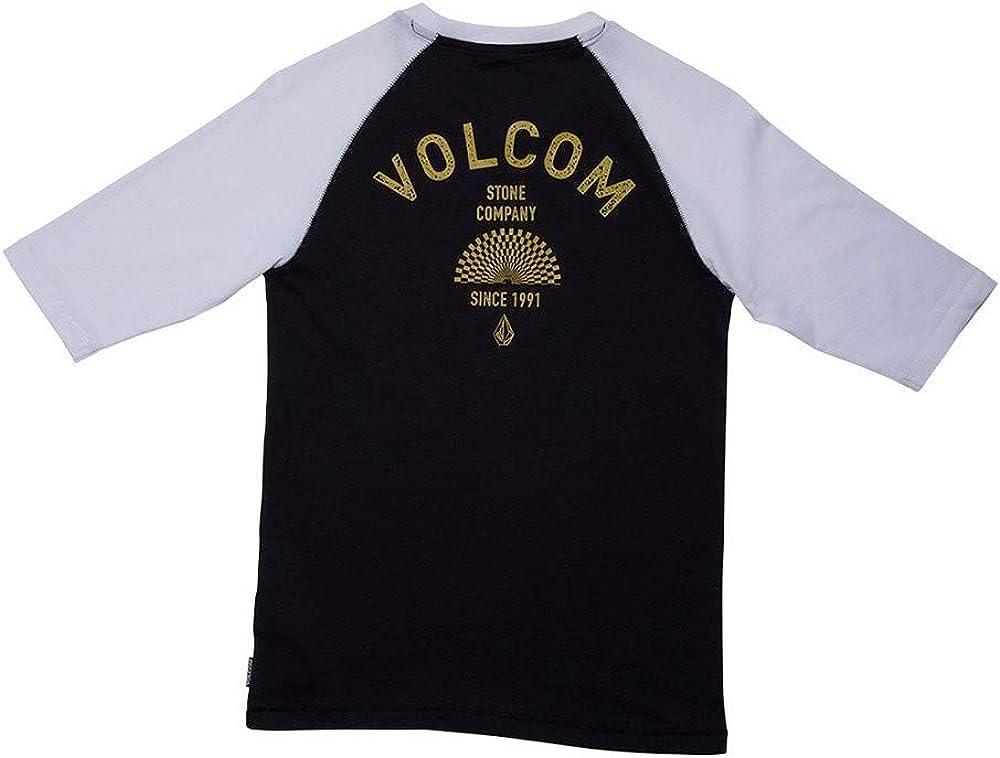 Volcom - Camiseta Eclipse 3/4 - Camiseta Niño - Blanco: Amazon.es: Ropa y accesorios