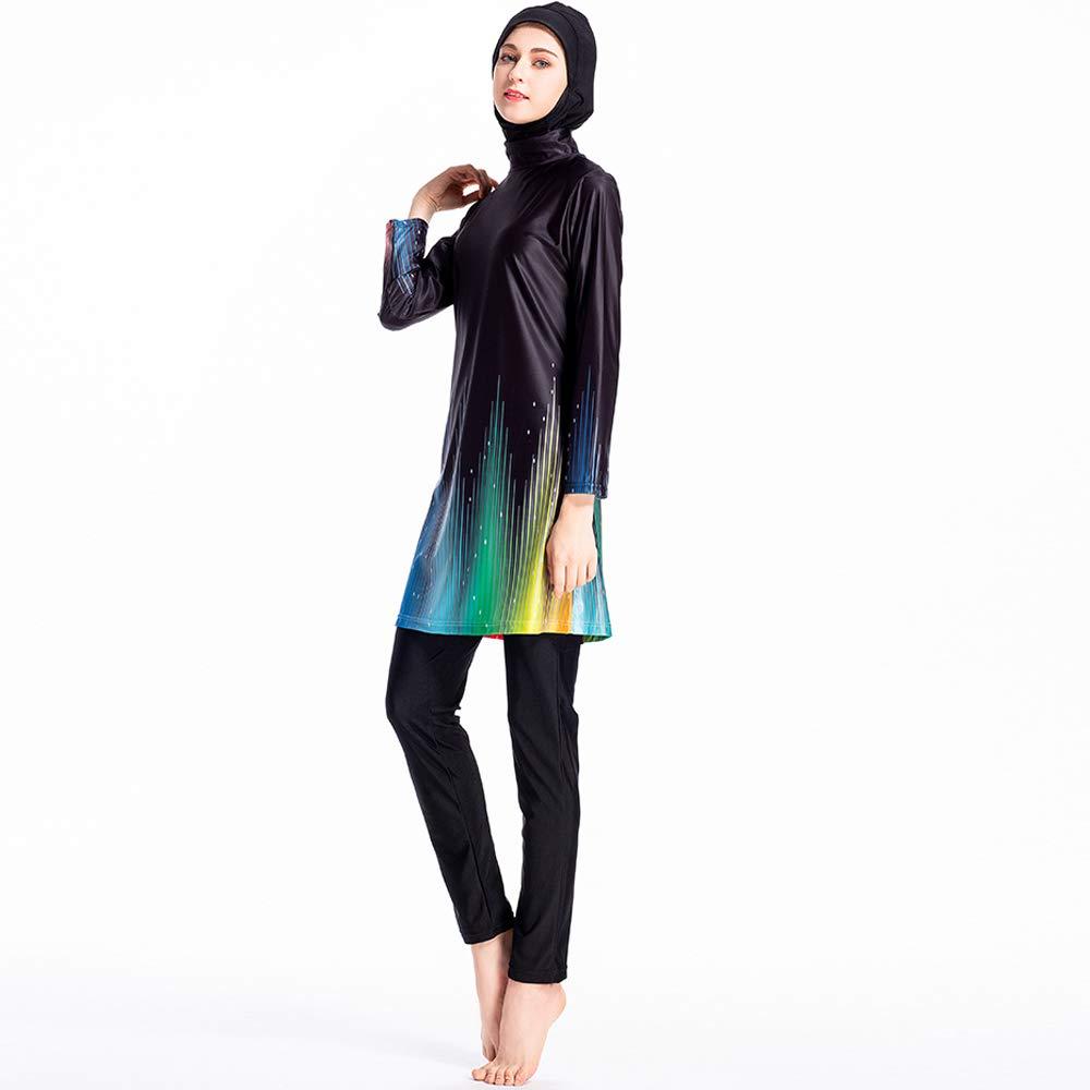 1f419c61e48 ziyimaoyi Women Plus Size Floral Muslim Swimwear Islamic Swimsuit Muslimah  Swimming Surf Costume: Amazon.co.uk: Sports & Outdoors