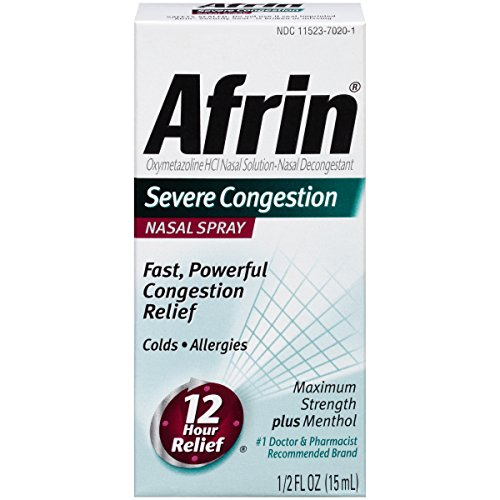 Afrin Severe Congestion Nasal Spray 0.5oz (15 ml)