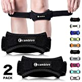 Cambivo 2 Pack Knee Strap Brace, Knee Pain Relief & Patella Band, Knee
