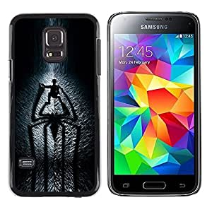 Design for Girls Plastic Cover Case FOR Samsung Galaxy S5 Mini, SM-G800 Spider Shadow OBBA